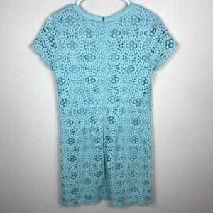 LOFT WOMENS SIZE 2 BLUE LACE SCALLOP DRESS
